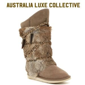 Atilla Genuine Rabbit Fur & Genuine Sheepskin Boot